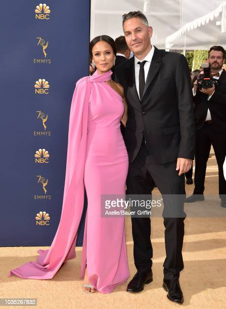 Thandie Newton and Ol Parker attend the 70th Emmy Awards at Microsoft Theater on September 17 2018 in Los Angeles California