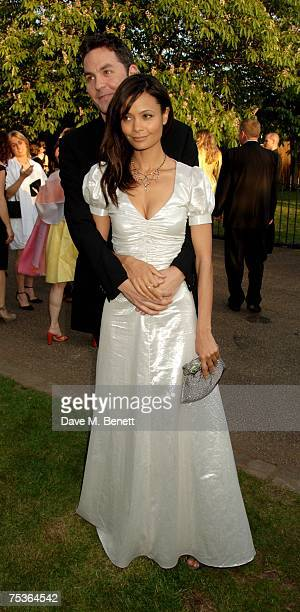 Thandie Newton and Ol Parker attend the Serpentine Summer Party at The Serpentine Gallery on July 11 2007 in London England