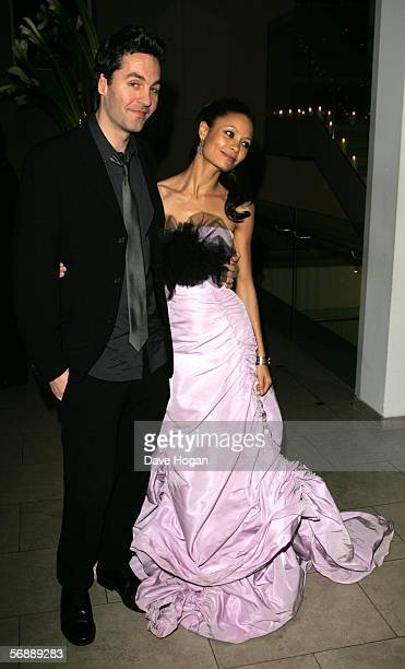 Thandie Newton and Ol Parker attend the Weinstein Co BAFTA after show party hosted by Harvey Weinstein following The Orange British Academy Film...
