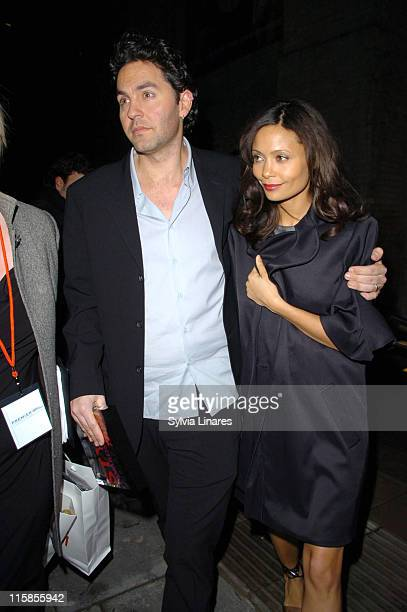 Thandie Newton and Oliver Parker during Elle Style Awards 2007 Departures at Roundhouse in London Great Britain