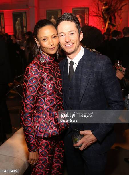 Thandie Newton and Simon Quarterman attend the Premiere of HBO's Westworld Season 2 After Party on April 16 2018 in Los Angeles California