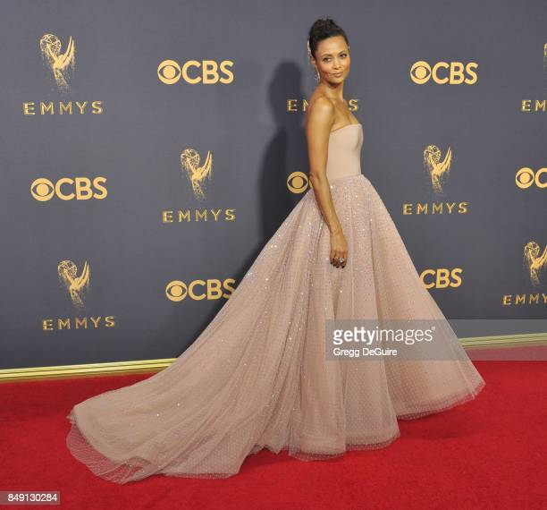Thandie Newton arrives at the 69th Annual Primetime Emmy Awards at Microsoft Theater on September 17 2017 in Los Angeles California