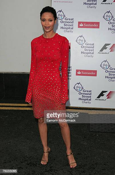 Thandie Newton arrives at the Great Ormond Street Hospital F1 party on July 4, 2007 in London, England.