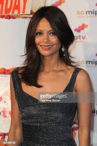 Thandie Newton arrives at the MIPTV 50th Anniversary Opening Party at the Martinez Hotel on April 8 2013 in Cannes France