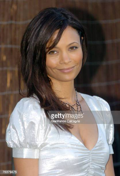 Thandie Newton arrives at The Serpentine Summer Party at The Serpentine Gallery on July 11 2007 in London England