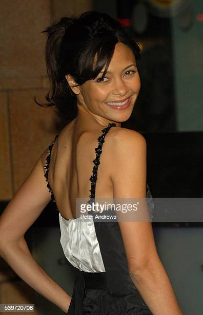 Thandie Newton arrives at the world premiere of Hot Fuzz and the Vue Cinema Leicester Square