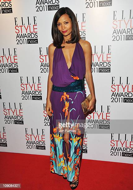 Thandie Newton arrives for the ELLE Style Awards 2011 at the Grand Connaught Rooms on February 14 2011 in London England