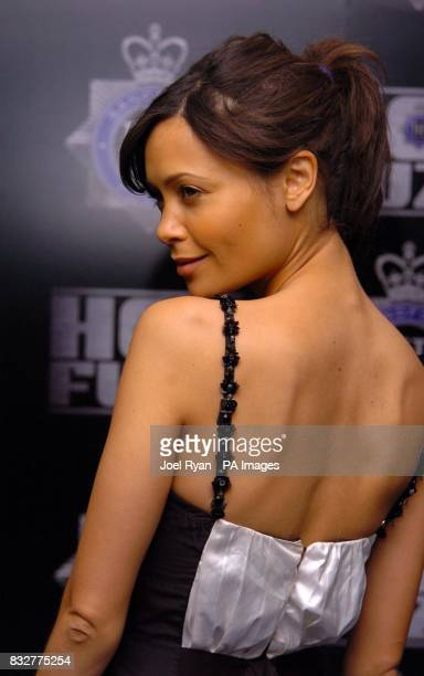 Thandie Newton arrives for the World Premiere of Hot Fuzz at the Vue West End in Leicester Square central London