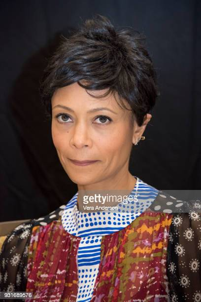 Thandie Newton at the 'Westworld' Press Conference at the Montage Hotel on March 13 2018 in Beverly Hills California