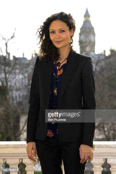 Thandie Newton attends a photocall to promote One Billion Rising, a global movement aiming to end violence towards women, at ICA on February 5, 2013...