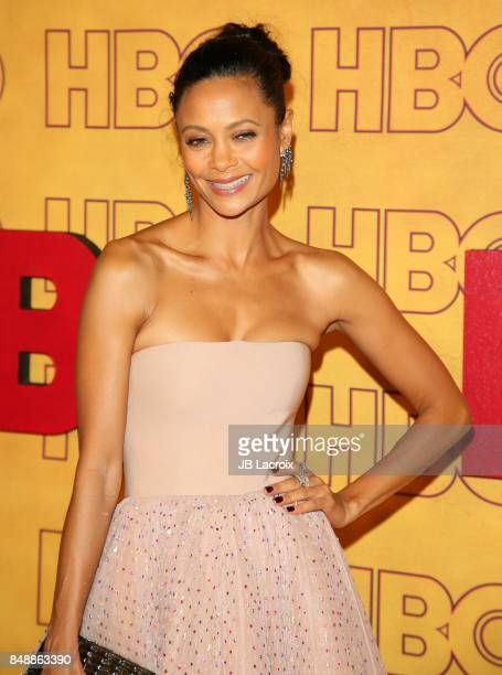 Thandie Newton attends HBO's Post Emmy Awards Reception at The Plaza at the Pacific Design Center on September 17 2017 in Los Angeles California