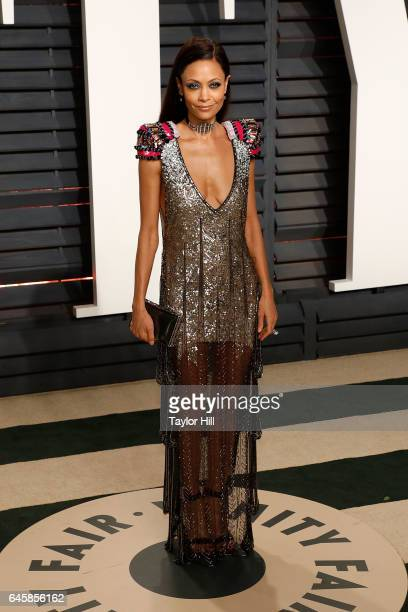 Thandie Newton attends the 2017 Vanity Fair Oscar Party at Wallis Annenberg Center for the Performing Arts on February 26 2017 in Beverly Hills...