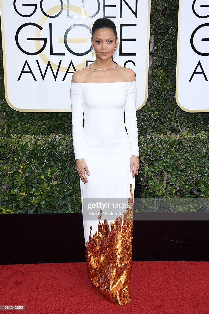 Thandie Newton attends the 74th Annual Golden Globe Awards at The Beverly Hilton Hotel on January 8, 2017 in Beverly Hills, California.