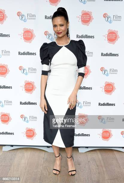Thandie Newton attends the BFI Radio Times TV Festival at the BFI Southbank on April 8 2017 in London England