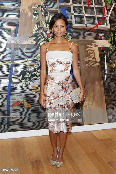 Thandie Newton attends the debut screening of a short film collaboration between Bella Freud and director Martina Amati at Max Wigram Gallery on...