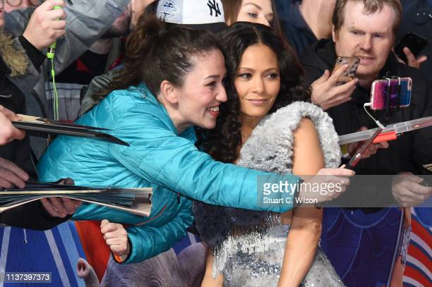 Thandie Newton attends the 'Dumbo' European premiere at The Curzon Mayfair on March 21 2019 in London England