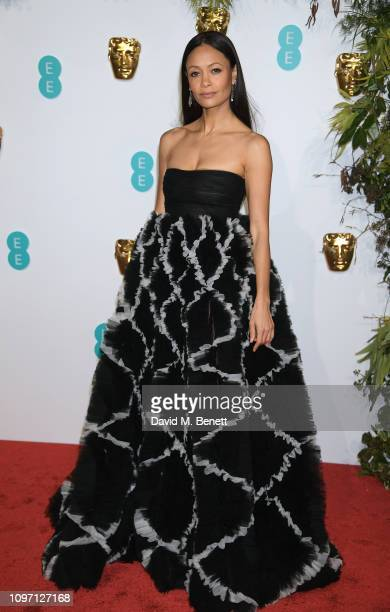 Thandie Newton attends the EE British Academy Film Awards at Royal Albert Hall on February 10, 2019 in London, England.