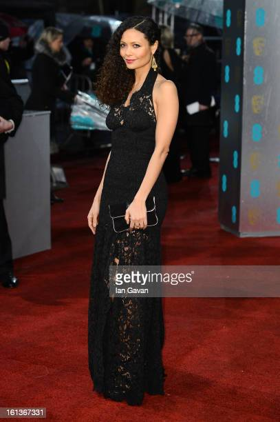 Thandie Newton attends the EE British Academy Film Awards at The Royal Opera House on February 10 2013 in London England