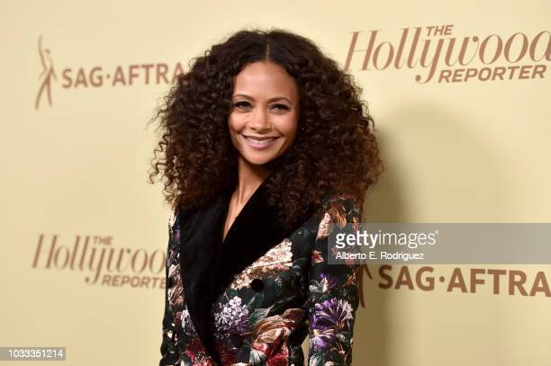 Thandie Newton attends The Hollywood Reporter and SAGAFTRA Annual Nominees Night to celebrate Emmy Award contenders at Avra Beverly Hills Estiatorio...