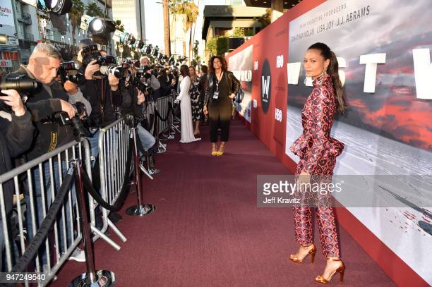 Thandie Newton attends the Los Angeles Season 2 premiere of the HBO Drama Series WESTWORLD at The Cinerama Dome on April 16 2018 in Los Angeles...