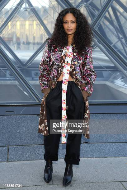 Thandie Newton attends the Louis Vuitton show as part of the Paris Fashion Week Womenswear Fall/Winter 2019/2020 on March 05 2019 in Paris France