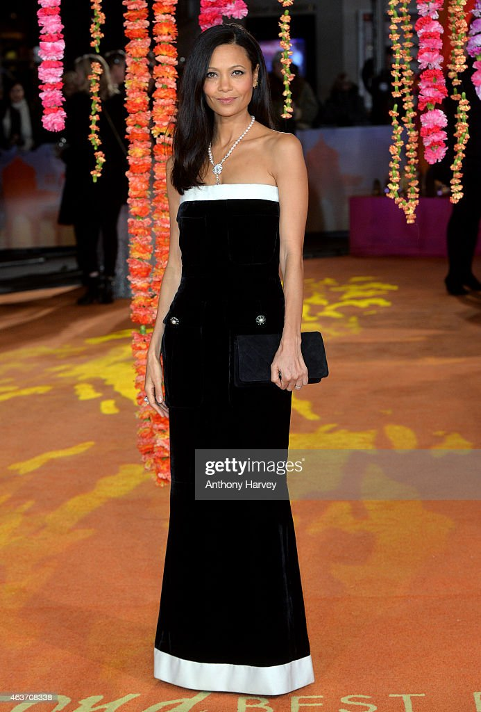 Thandie Newton attends The Royal Film Performance and World Premiere of 'The Second Best Exotic Marigold Hotel' at Odeon Leicester Square on February 17, 2015 in London, England.