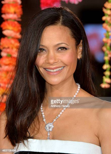 """Thandie Newton attends The Royal Film Performance and World Premiere of """"The Second Best Exotic Marigold Hotel"""" at Odeon Leicester Square on February..."""