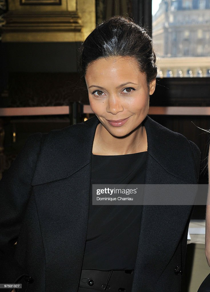 Thandie Newton attends the Stella McCartney Ready to Wear show as part of the Paris Womenswear Fashion Week Fall/Winter 2011 at Opera Garnier on March 8, 2010 in Paris, France.