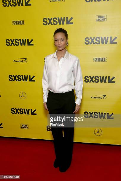 Thandie Newton attends the Westworld Featured Session during SXSW at Austin Convention Center on March 10 2018 in Austin Texas