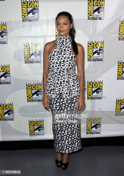 Thandie Newton attends the Westworld III Panel during 2019 ComicCon International at San Diego Convention Center on July 20 2019 in San Diego...