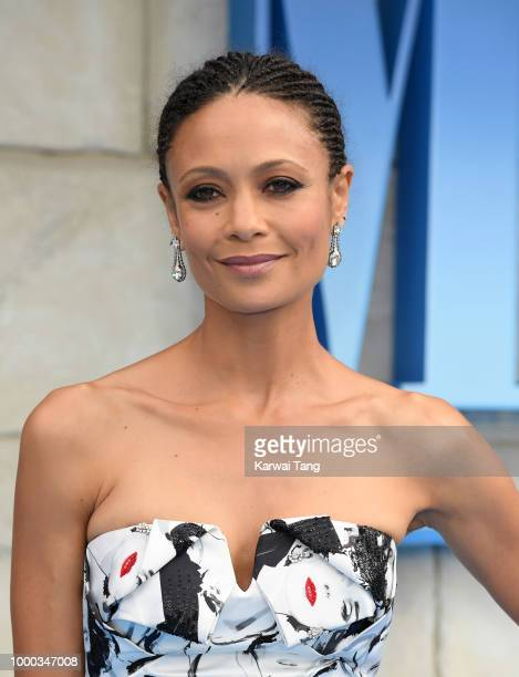 Thandie Newton attends the World Premiere of 'Mamma Mia Here We Go Again' at Eventim Apollo on July 16 2018 in London England