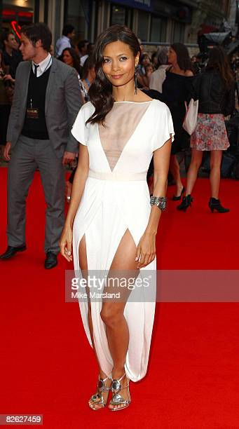 Thandie Newton attends the world premiere of RocknRolla at Odeon West End on September 1 2008 in London England