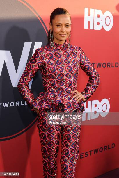 Thandie Newton attends Westworld Season 2 Los Angeles Premiere on April 16 2018 in Los Angeles California