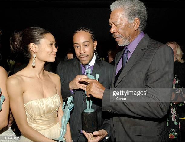 Thandie Newton Chris 'Ludicrous' Bridges and Morgan Freeman 10612_lc0295jpg