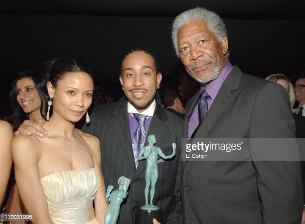 Thandie Newton Chris 'Ludicrous' Bridges and Morgan Freeman 10612_lc0298jpg