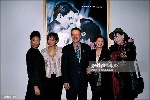 Thandie Newton Christine Boisson Jonathan Demme Anna Karina and Magali Noel in Paris France on January 14 2003