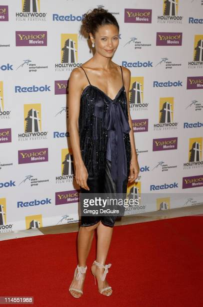 Thandie Newton during 9th Annual Hollywood Film Festival Awards Gala Ceremony Arrivals at Beverly Hilton Hotel in Beverly Hills California United...