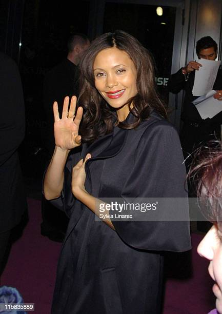 Thandie Newton during Elle Style Awards 2007 Departures at Roundhouse in London Great Britain