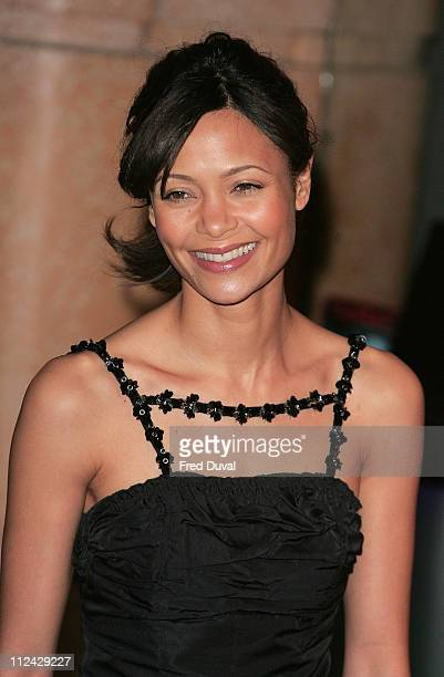 Thandie Newton during Hot Fuzz London Premiere Arrivals at Vue West End in London Great Britain