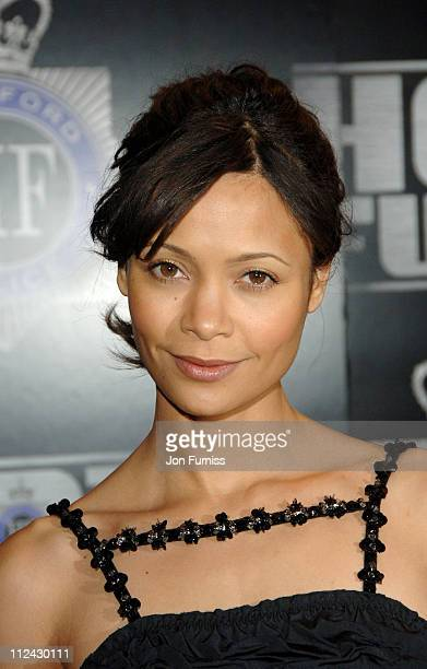 Thandie Newton during Hot Fuzz London Premiere Inside Arrivals at Vue West End in London United Kingdom
