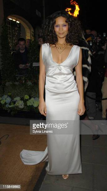 Thandie Newton during Lavender Trust Party at Claridges Hotel in London Great Britain