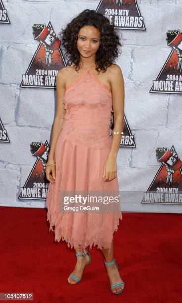 Thandie Newton during MTV Movie Awards 2004 Arrivals at Sony Pictures Studios in Culver City California United States
