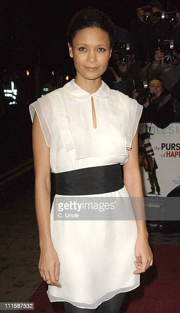 """Thandie Newton during """"Pursuit Of Happyness"""" London Premiere - Red Carpet at Curzon Mayfair in London, Great Britain."""