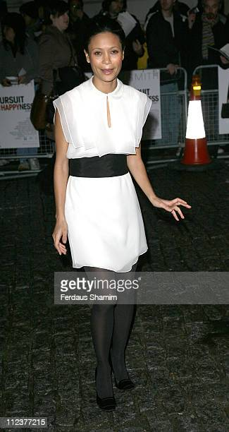 """Thandie Newton during """"Pursuit of Happyness"""" - London Premiere - Red Carpet Arrivals at Curzon Mayfair in London, United Kingdom."""