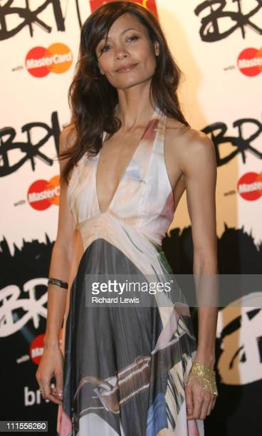 Thandie Newton during The Brit Awards 2006 with MasterCard Press Room at Earls Court in London Great Britain
