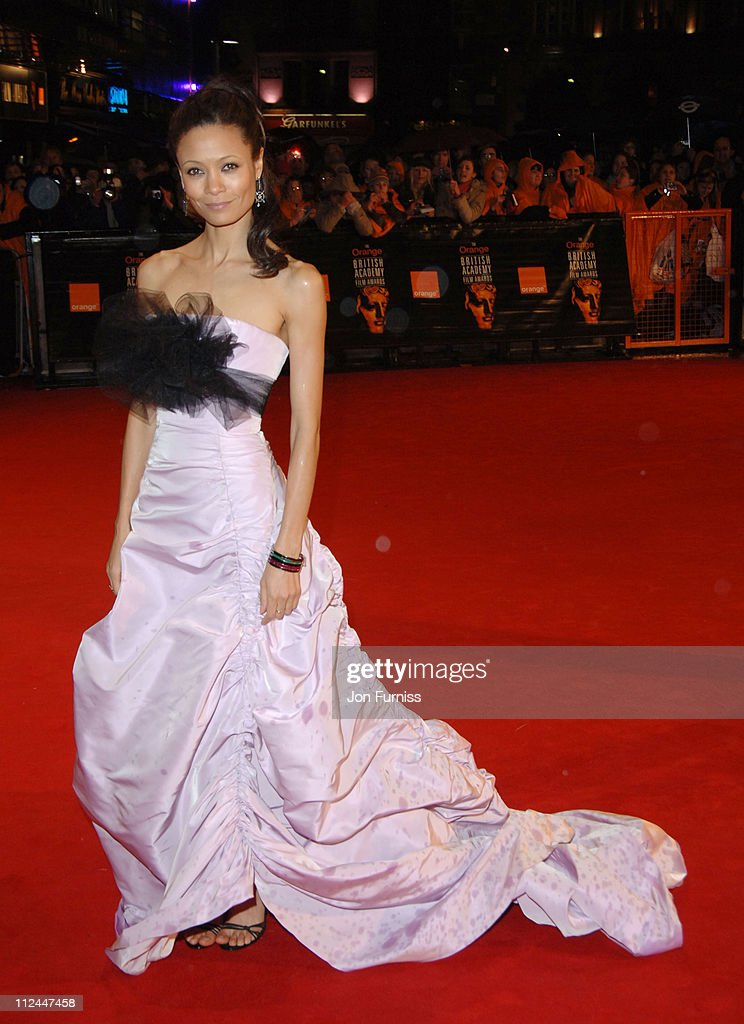 Thandie Newton during The Orange British Academy Film Awards 2006 - Outside Arrivals at Odeon Leicester Square in London, Great Britain.