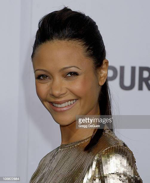 Thandie Newton during The Pursuit Of Happyness Los Angeles Premiere Arrivals at Mann Village Theatre in Westwood California United States