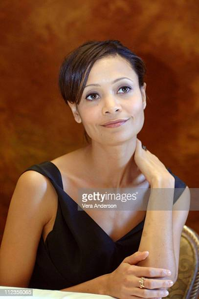 Thandie Newton during 'The Pursuit of Happyness' Press Conference with Thandie Newton Gabriele Muccino and Chris Gardner at Waldorf Astoria in New...