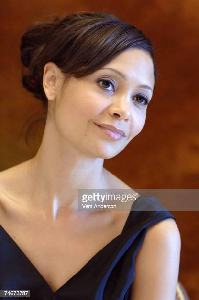 Thandie Newton during 'The Pursuit of Happyness' Press Conference with Thandie Newton Gabriele Muccino and Chris Gardner at the Waldorf Astoria in...