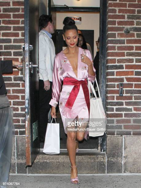 Thandie Newton is seen on June 13 2018 in New York City